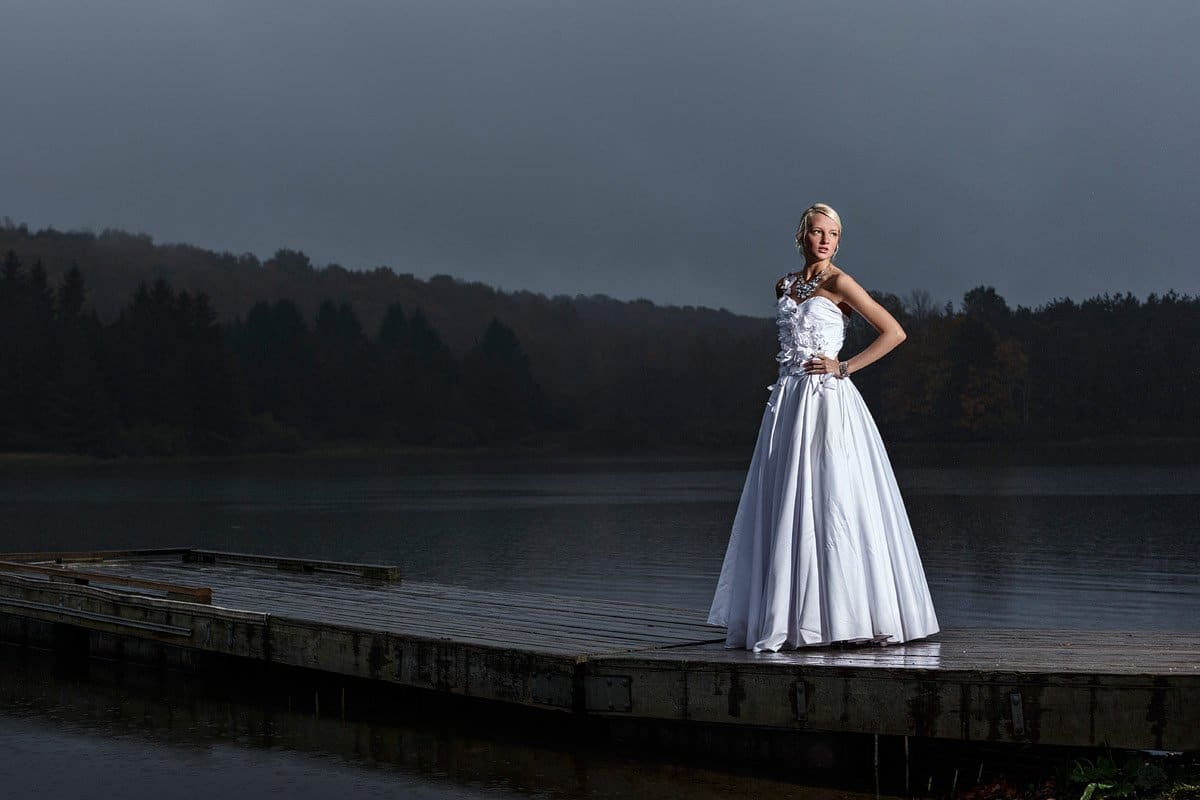mckinney prom pictures on lake in dress