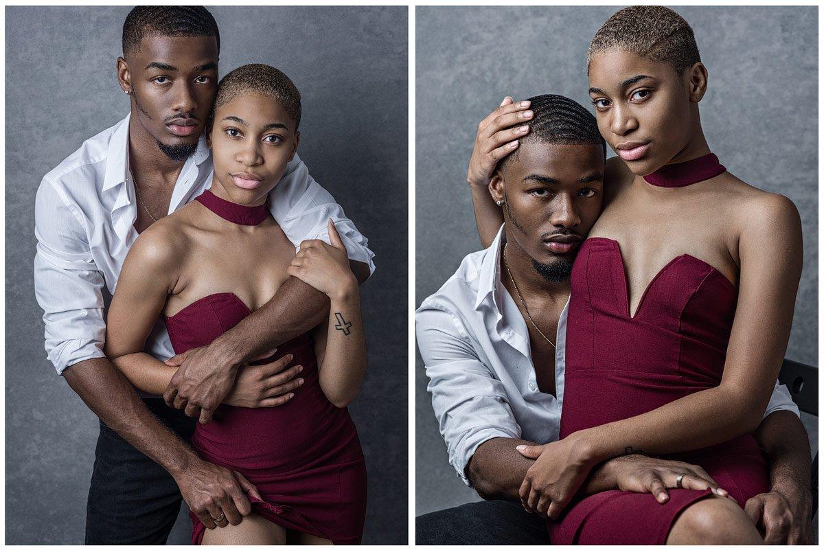 mckinney photography studio portraits engaged couple
