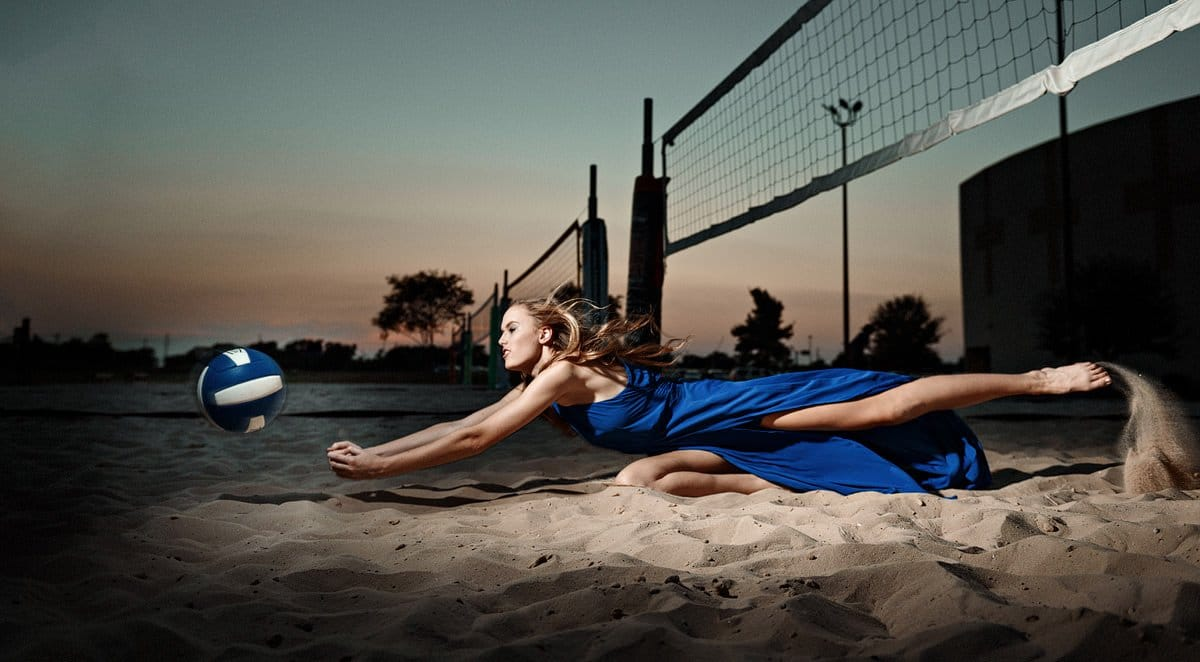 mckinney north sports photos girls volleyball dives for ball in fashion dress