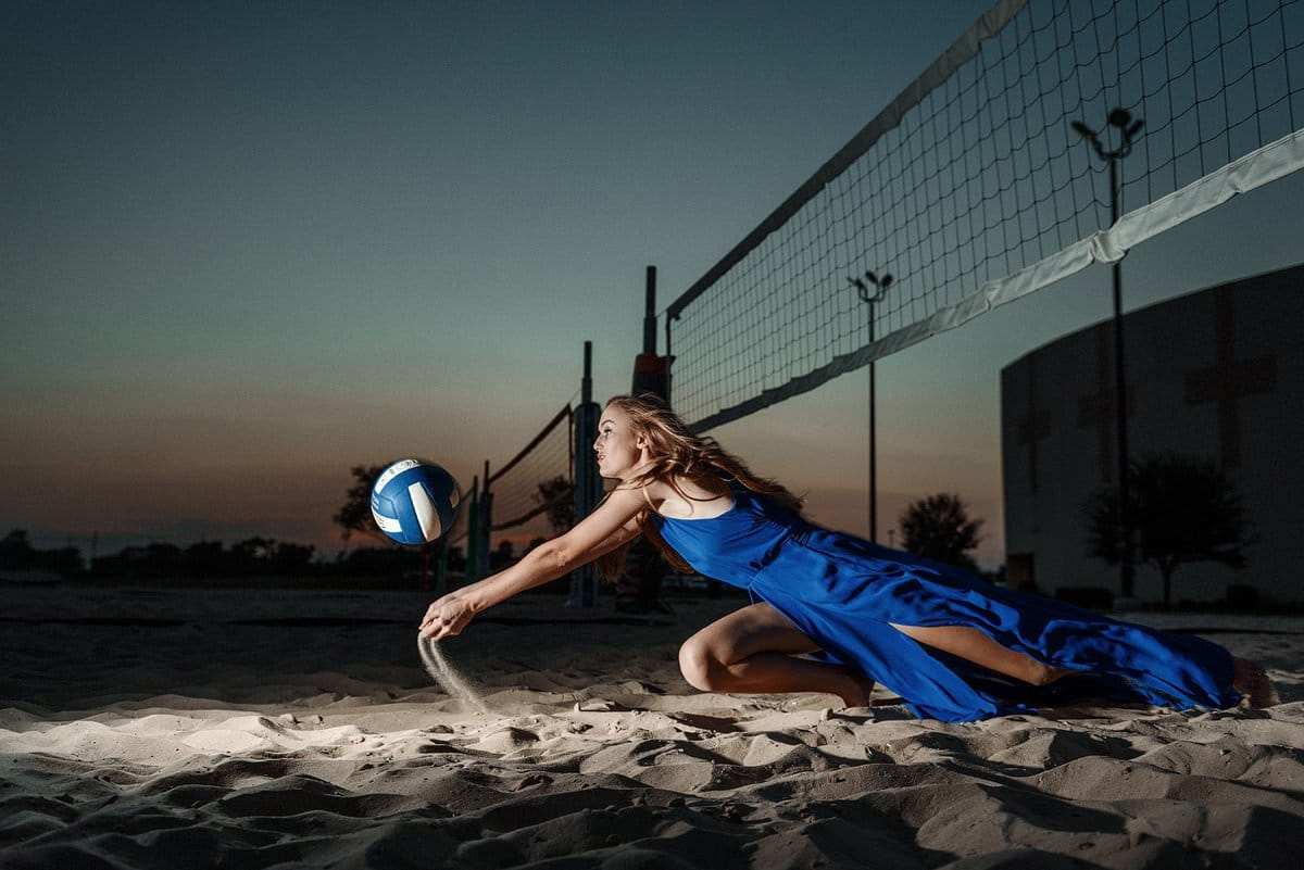 mckinney north sports photos volleyball dig in sand