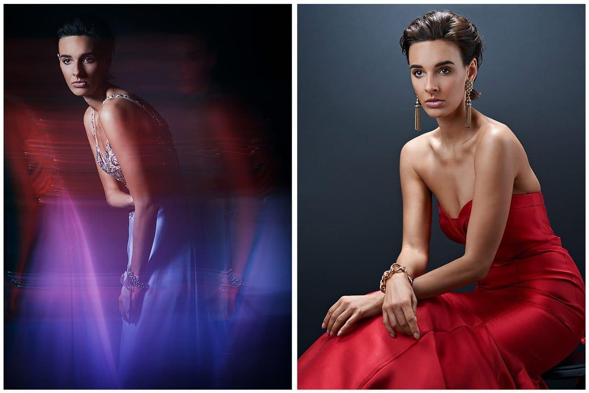 dallas glamour portraits for women red dress mckinney texas