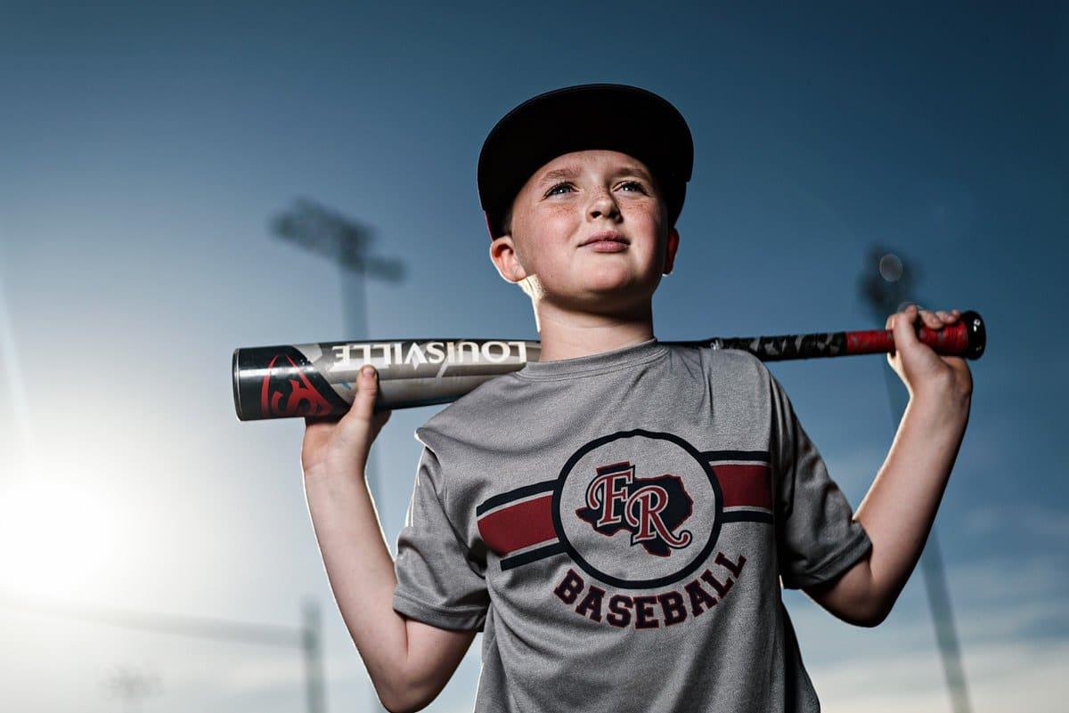 Youth sports baseball photos frozen ropes zinger bat mckinney photographer