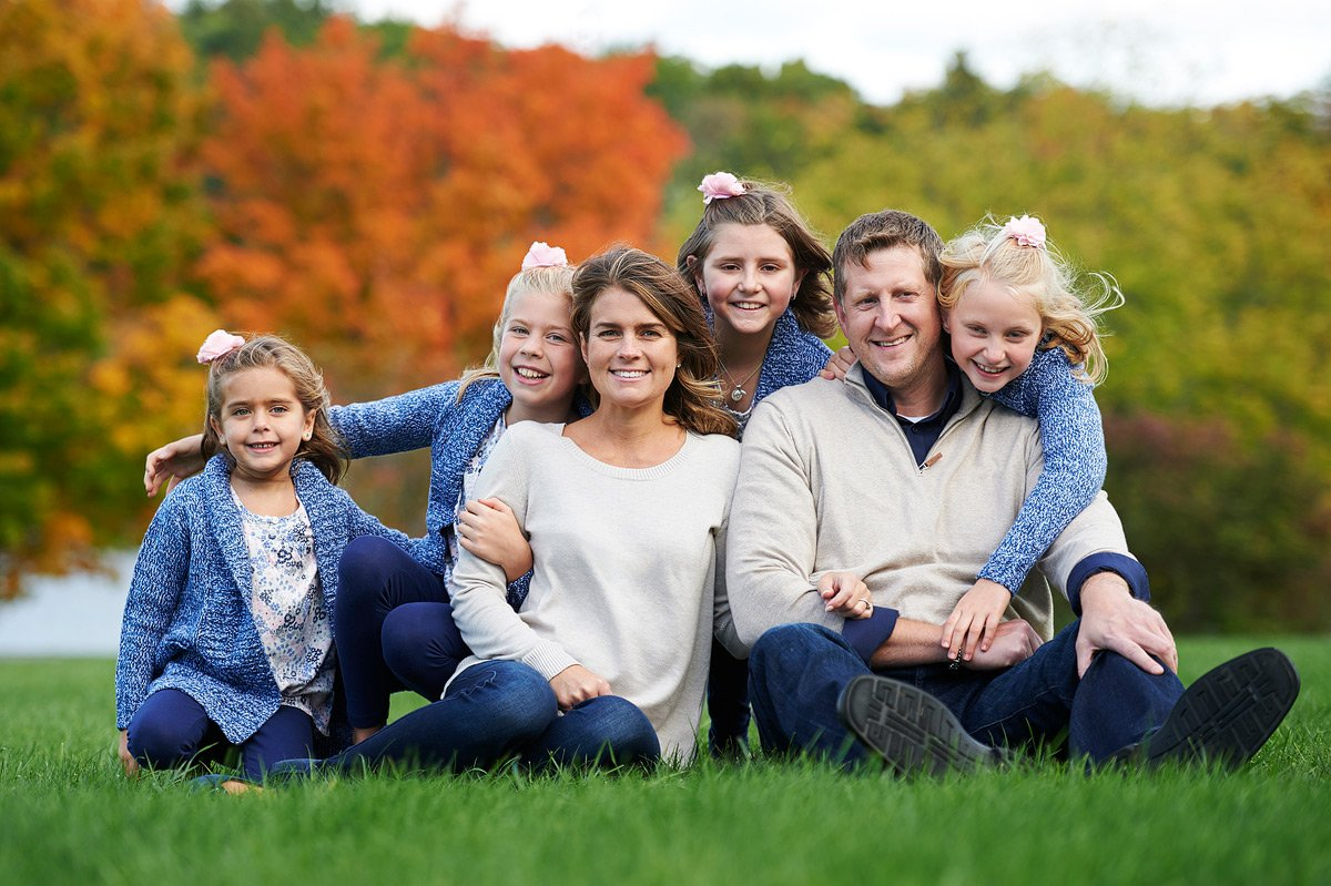fall family photos in highland park dallas