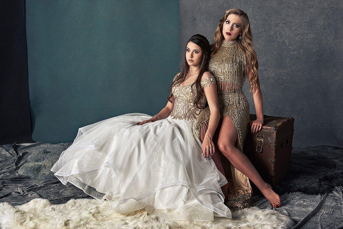 golden tassel dress sherri hill in dallas prom pictures