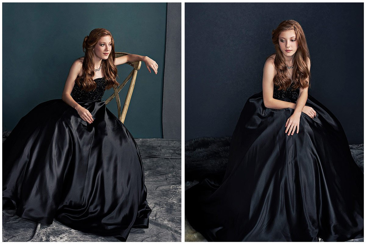 sherri hill black gown from terry costa for dallas prom pictures