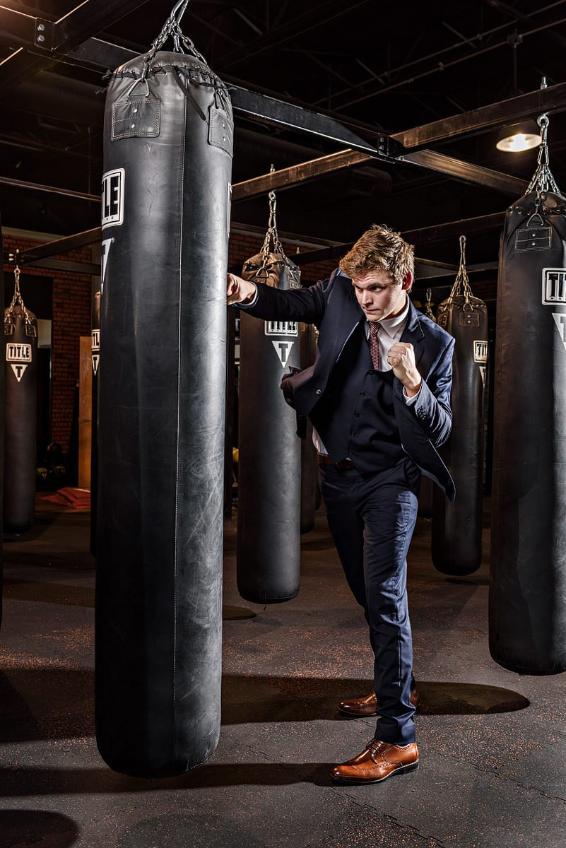 Plano high senior portraits boys boxing sports title boxing mckinney