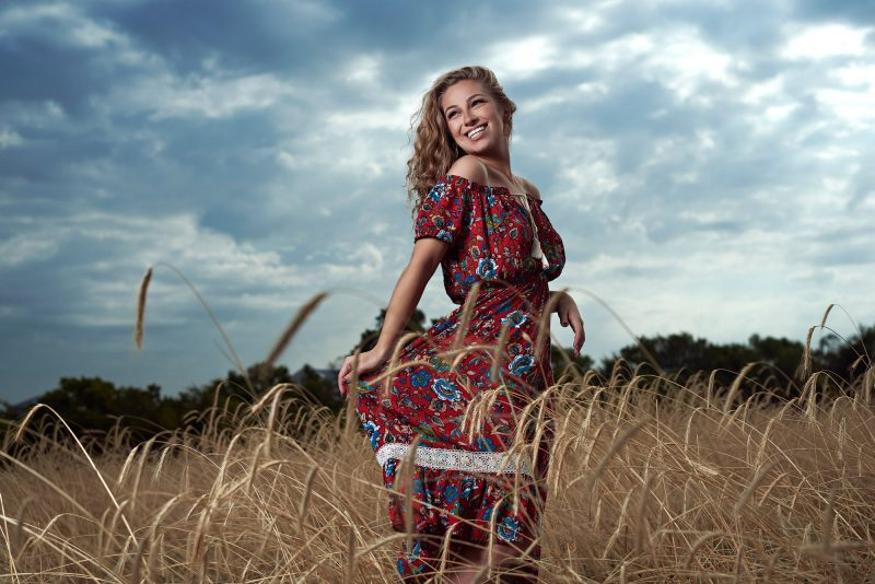 Dallas Fashion portraits in a field in Mckinney texas