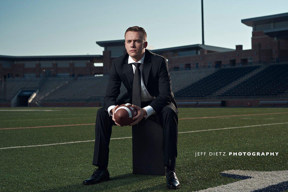 Allen senior defensive end eagles football at allen stadium dallas sports portraits