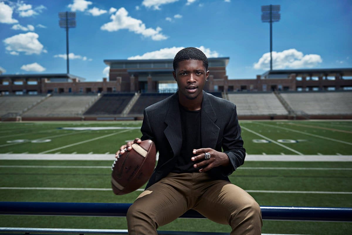 Allen senior photos of cornerback perkins for fashion sports portraits jeff dietz photography
