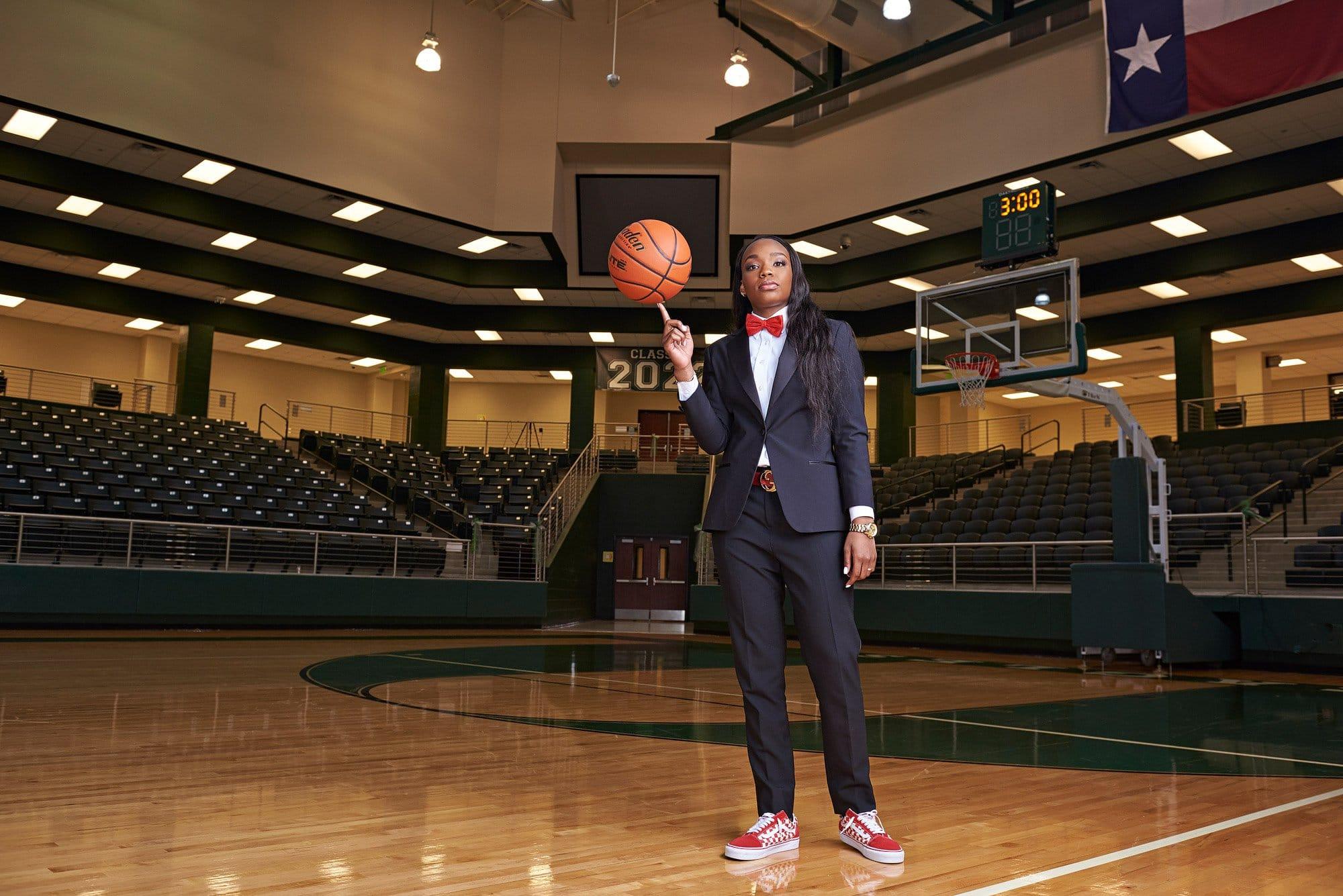 Mckinney photographer photographs Jordyn Oliver from Prosper High School fashion sports portraits