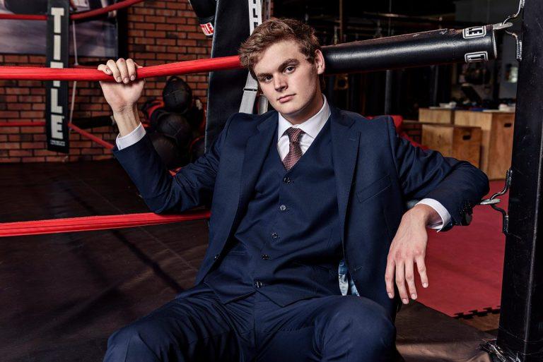 plano senior photos in title boxing gym Mckinney Tx