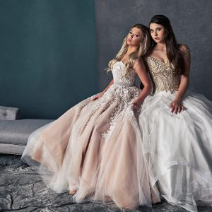 southlake prom photos sherry hill gown with friend portraits