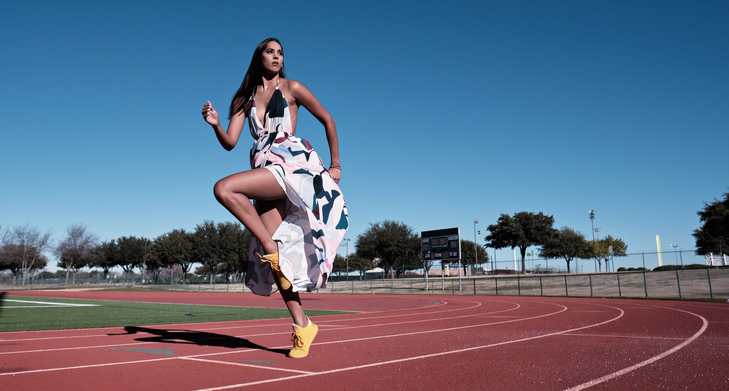 Dallas sports portraits of girls high School track and field at Allen