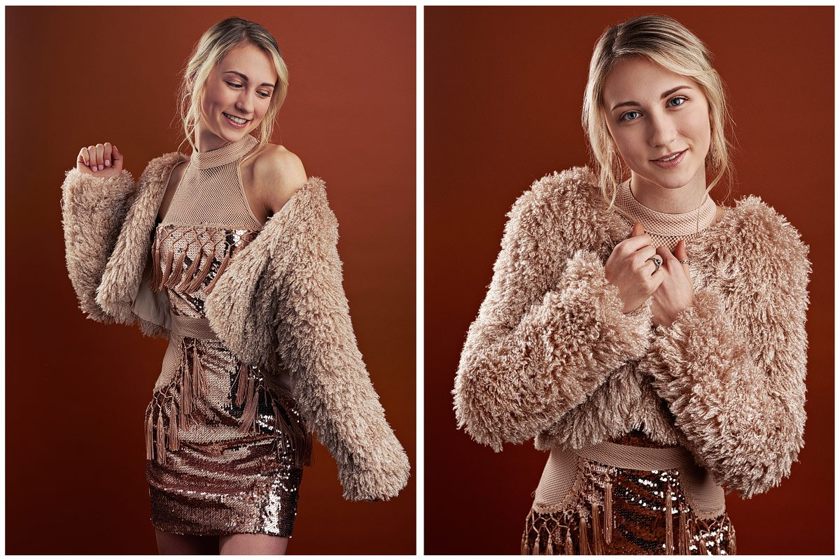 lone star senior girl in sequins beige dress