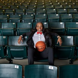 prosper high school sports photos girls basketball player in bleachers jordyn oliver