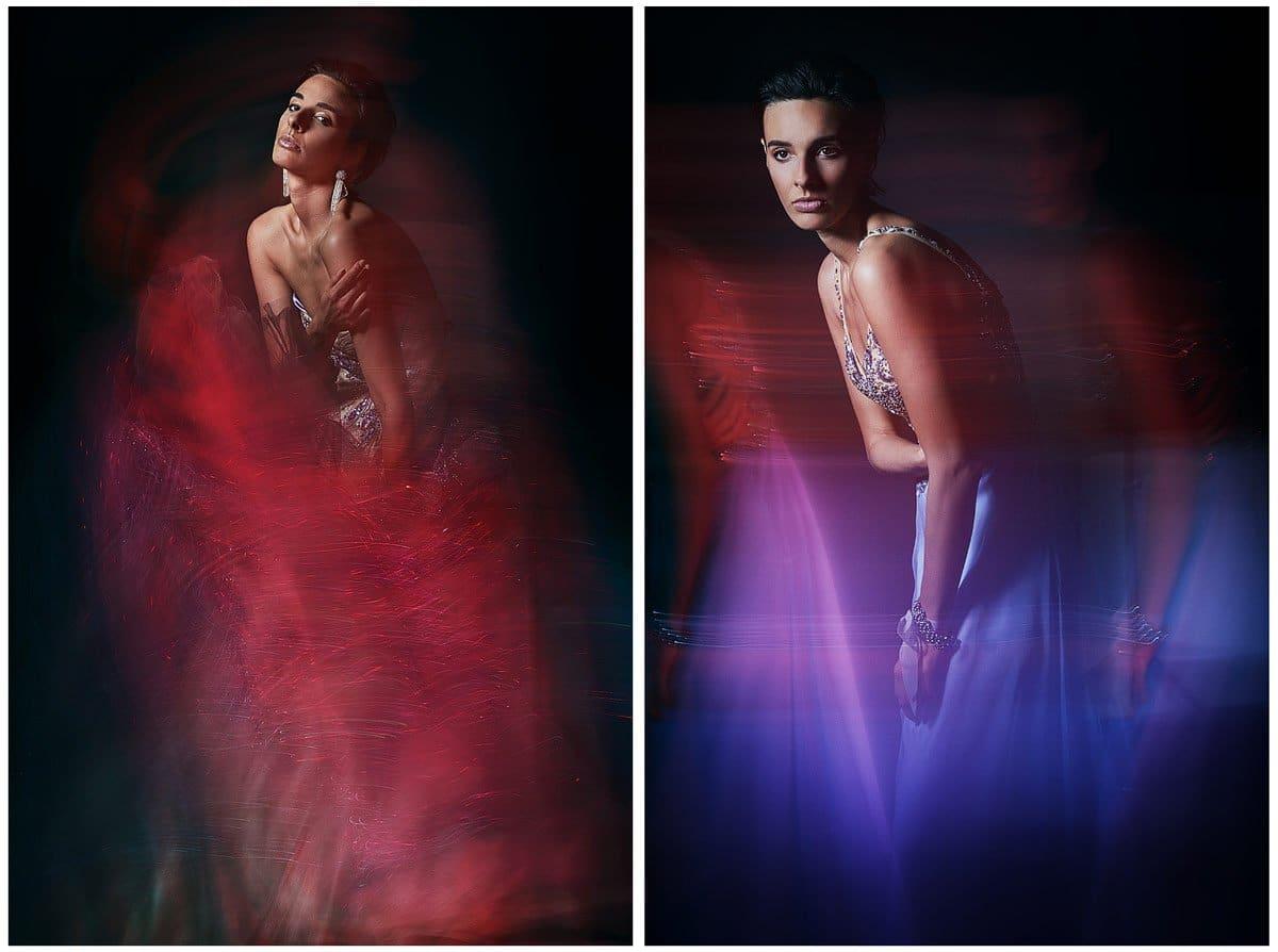 dallas model photographer in studio fashion shoot