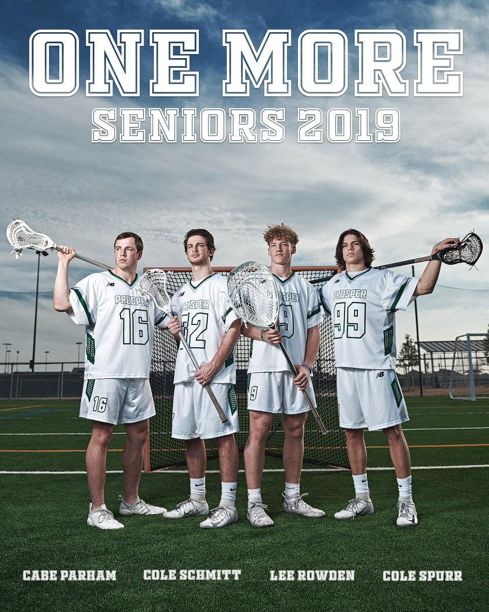 prosper senior lacrosse players state champions for team photo in jerseys