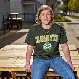 Prosper senior photos of boys college celebration t-shirts oklahoma state