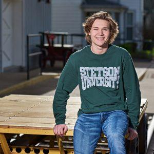 Prosper senior photos of boys college celebration t-shirts stetson