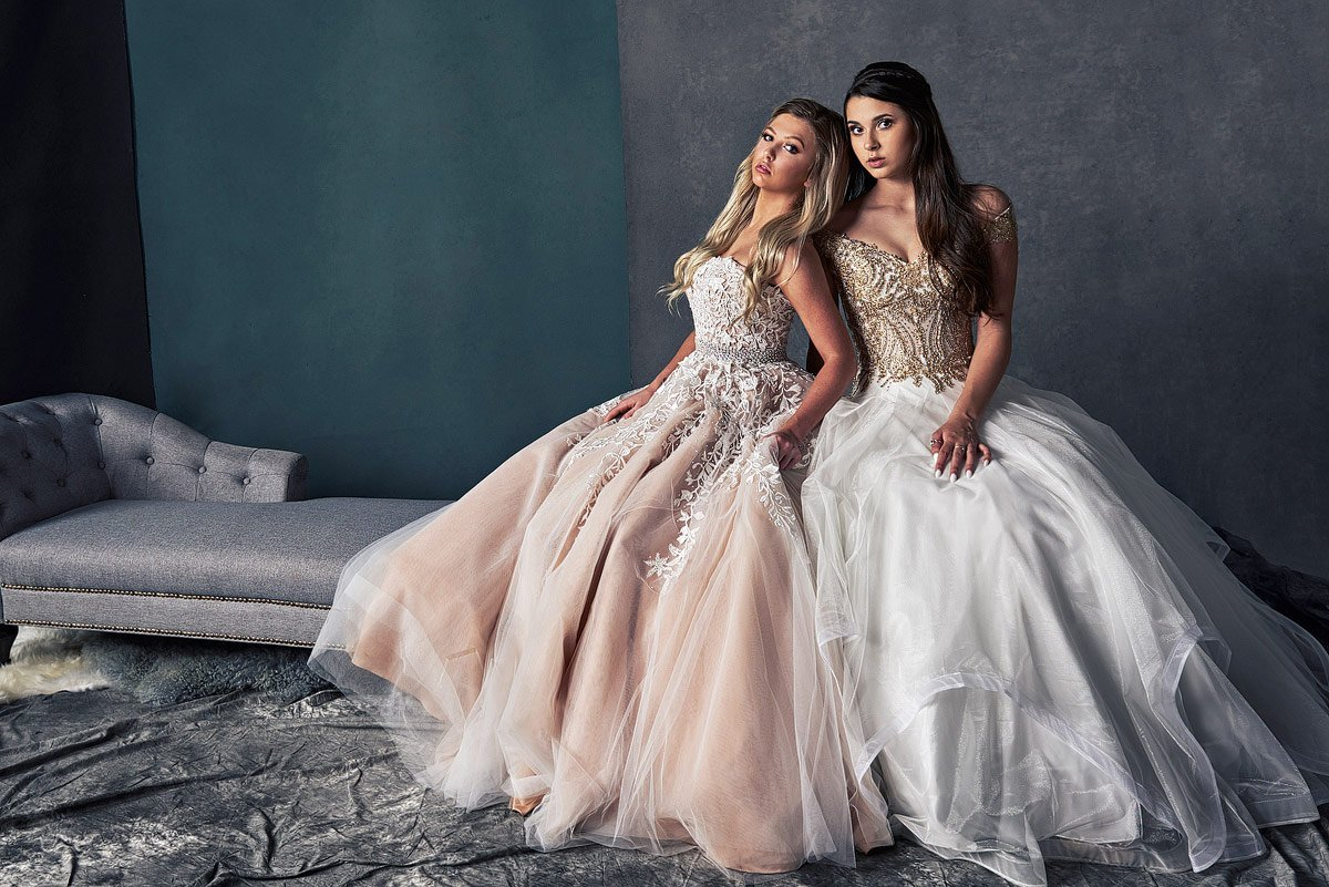 senior pictures in mckinney of prom vanity fair portraits in sherri hill gowns