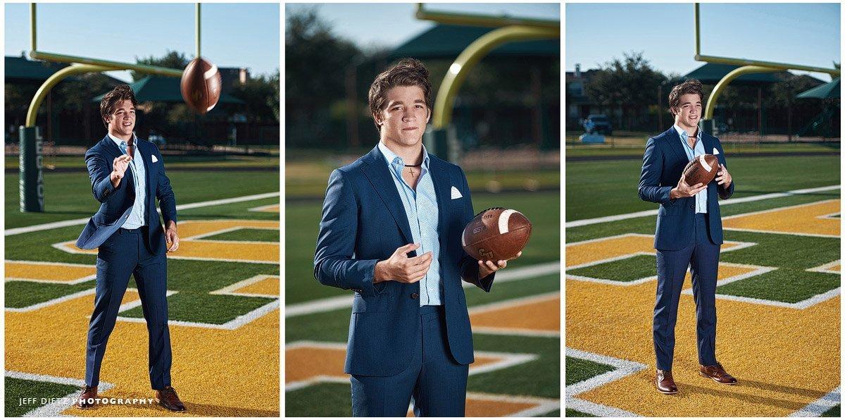 senior football pictures in frisco texas legacy christian