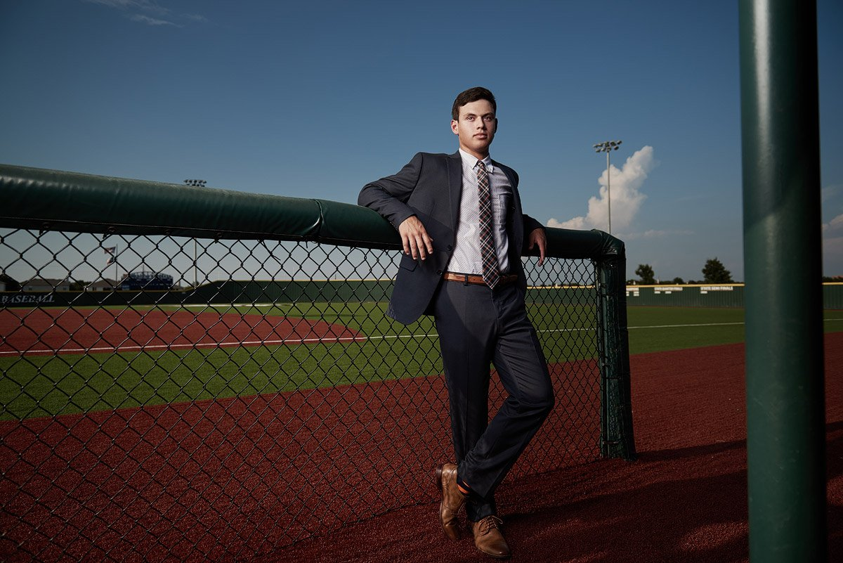 mckinney north senior portraits of baseball player zach garza