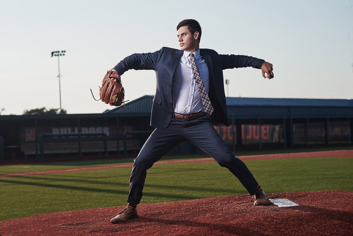 Mckinney North Bulldogs pitcher Zach Garza for senior pictures