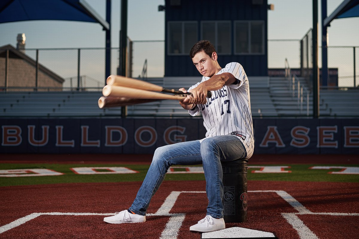 McKinney North Senior baseball player for the bulldogs for senior pictures