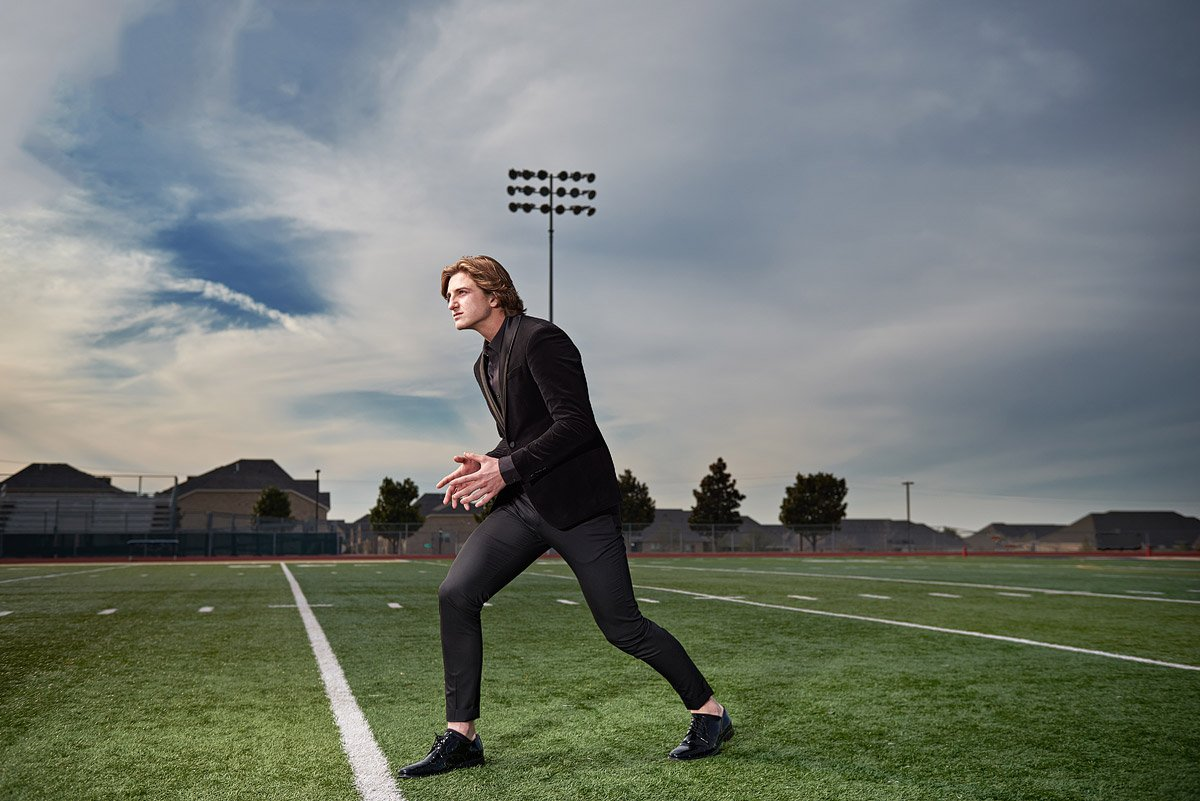 Plano football player prestonwood christian senior on the field