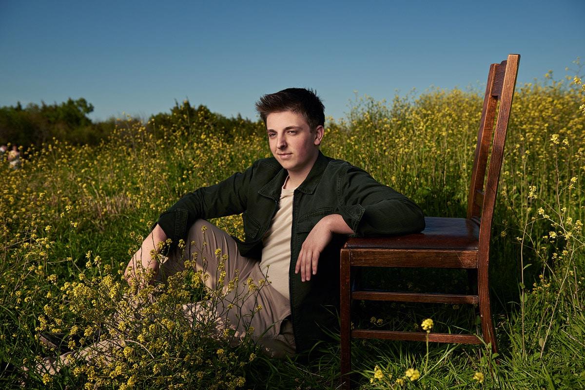 mckinney boyd senior boy at arbor hills in the grass