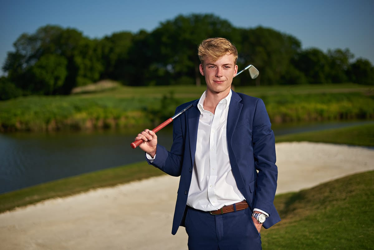 golf senior portraits southlake carroll timarron country club