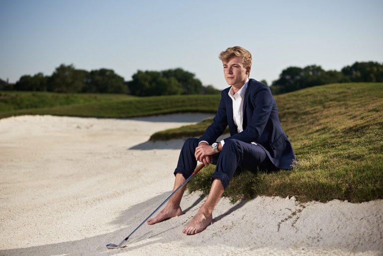 southlake carroll senior portraits of high school golfer Dallas photographer Jeff Dietz