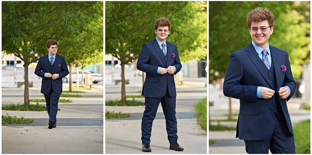 prosper senior portrait of zane in downtown dallas texas series of 3