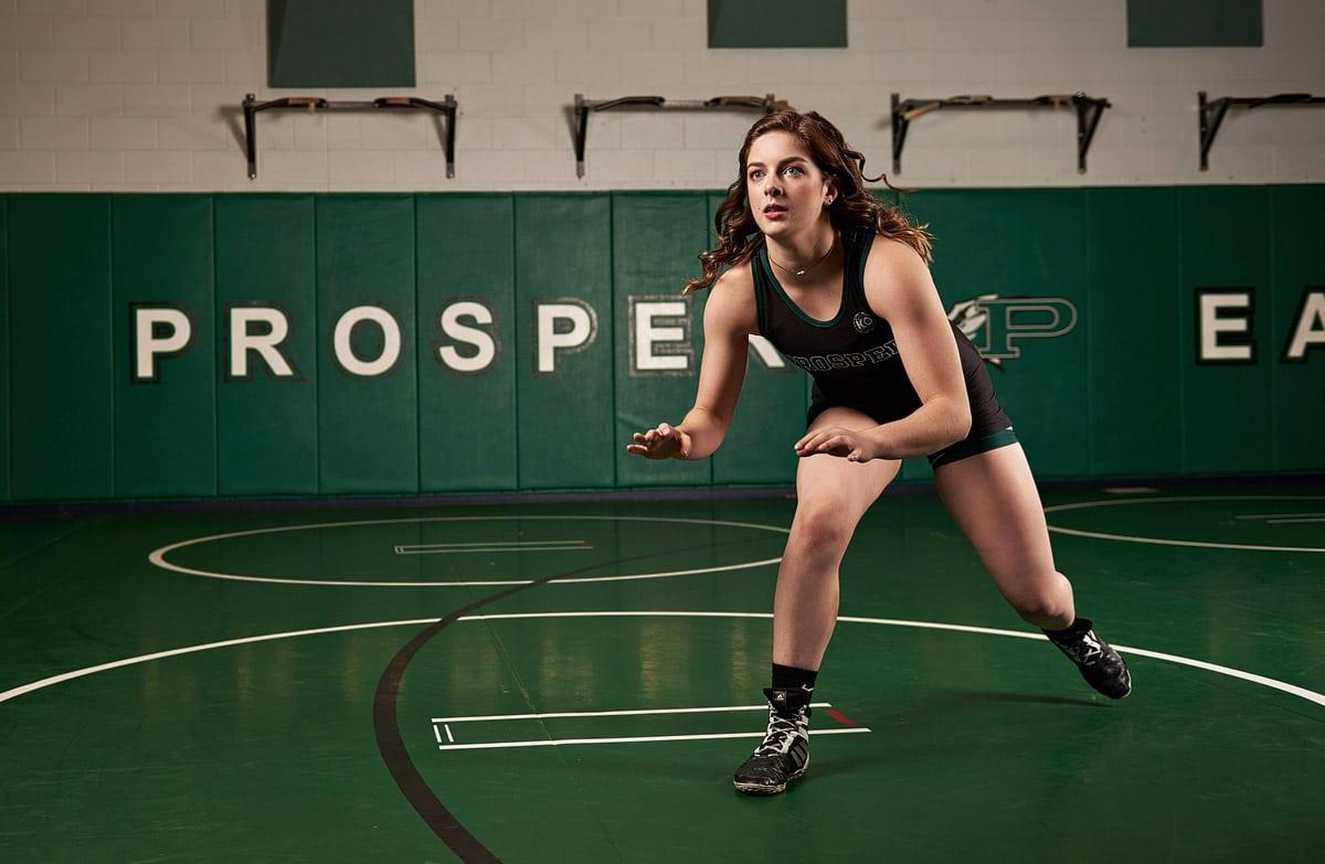 Prosper Senior pictures of girls wrestling senior